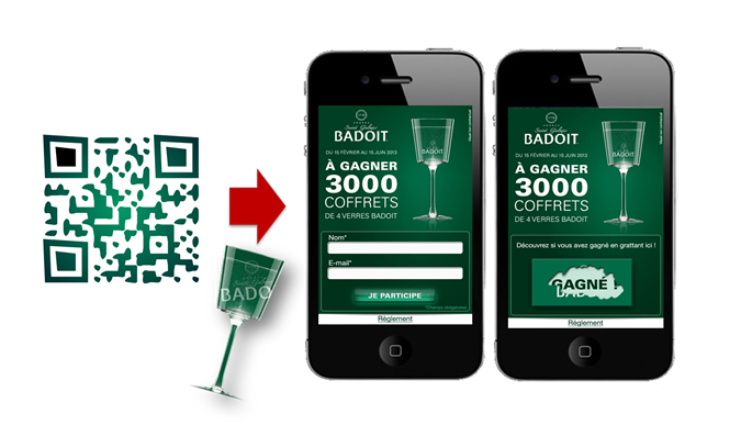 Jeu innovant Badoit sur mobile by HighCo DATA