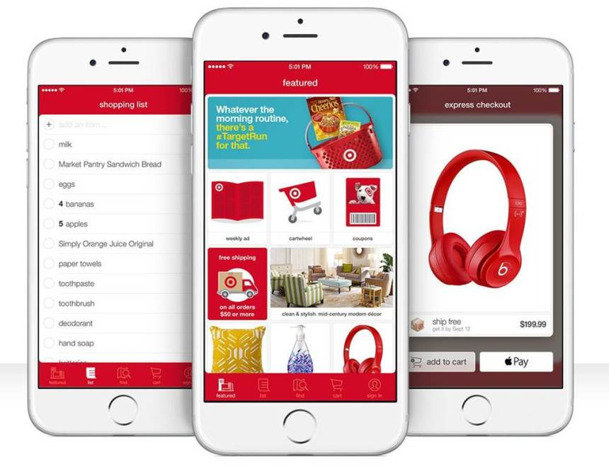 Target teste Apple Pay