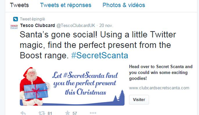 #SecretScanTa l'application twitter de Tesco pour Noël