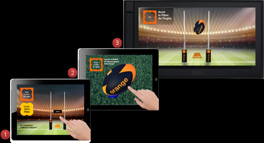 jeu orange rugby 100% fibre