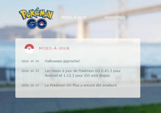 Pokemon Go de retour pour Halloween